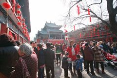 Temple fair in Town God& x27;s Temple, Zhengzhou royalty free stock photography