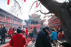 Temple fair in Town God& x27;s Temple, Zhengzhou royalty free stock images