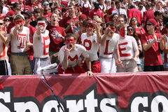 Temple fans celbrate Stock Photo