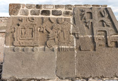 Temple of the Feathered Serpent in Xochicalco. Mexico. Royalty Free Stock Images