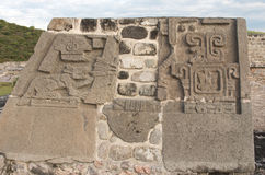 Temple of the Feathered Serpent in Xochicalco. Mexico. Royalty Free Stock Photos