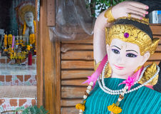 Temple figures in Thailand Stock Photos