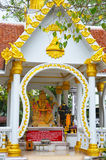 The temple. Filmed in Thailand Taktshang Goemba Royalty Free Stock Photo