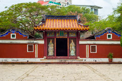 Temple of Five noble ladies. Temple of Five Concubines in Tainan, Taiwan Royalty Free Stock Images