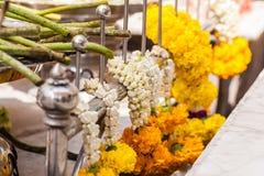 Temple flowers Stock Photos