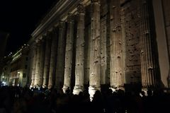 Temple fo Hadrian in Rome Stock Photography