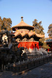Temple of the forbidden city in winter in Beijing Royalty Free Stock Image