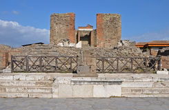 Temple of Fortuna Augusta in ancient Pompeii, Italy Royalty Free Stock Images