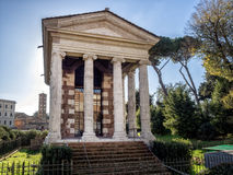 Temple of Fortuna Virilis or Temple of Portunus in Rome Stock Images