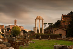Temple at the Forum Romanum Stock Photography