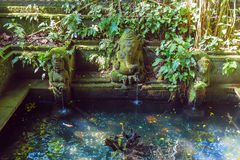 Temple Fountain in Monkey forest, Ubud, Bali Royalty Free Stock Image