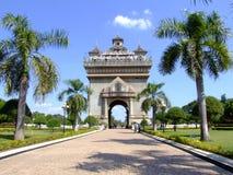 Temple français de type, Vientiane, Laos. Photo stock