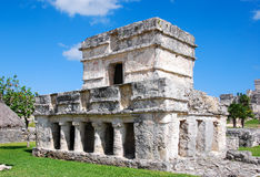 Temple of the Frescoes in Tulum Royalty Free Stock Image