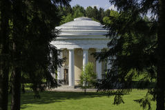 Temple of Friendship. Pavlovsk. Garden furniture, built in honor of Emperor Paul reconciliation with his mother Catherine Royalty Free Stock Photos