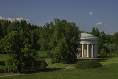 Temple of Friendship. Pavlovsk. Garden furniture, built in honor of Emperor Paul reconciliation with his mother Catherine Stock Image