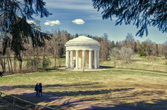 The temple of Friendship in the Pavlovsk Park Foto de archivo