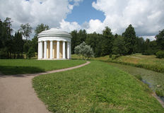 Temple of Friendship in the Pavlovsk park. Temple of Friendship in the Pavlovsk garden, Saint-Petersburg Stock Photos