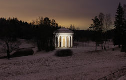 The temple of Friendship in the Pavlovsk Park Royalty Free Stock Image