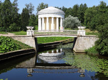Temple of Friendship in Pavlovsk park. Russia. Royalty Free Stock Images