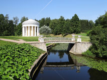 Temple of Friendship in Pavlovsk park. Russia. Stock Images