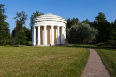 Temple of Friendship in Pavlovsk park. Russia. Stock Photo