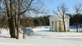 Temple of Friendship in Pavlovsk park stock video footage