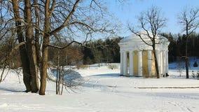 Temple of Friendship in Pavlovsk park stock video footage