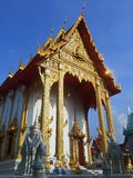 Temple front view of thailand. Overview of the goals and adhering parapet overlooking the Temple of the Lord . In Bangkok, Thailand Stock Photos