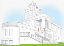 Temple in the functionalist style Royalty Free Stock Photo