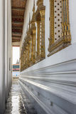 Temple gallery. Corridor or gallery of thai temple in bangkok Royalty Free Stock Images