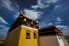Temple in gansu china Royalty Free Stock Photo