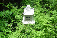 Temple in Garden. Temple in the fern garden royalty free stock photography