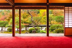 Temple Garden in Japan. Nara, Japan Shoryaku-ji Temple Royalty Free Stock Images