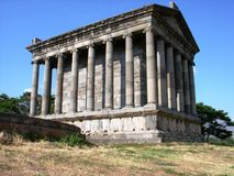 Temple Garni, Armenia. Garni is a 1-st century temple in Armenia.It is the form of a Hellenistic Temple Stock Photography