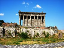 Temple Garni, Armenia. Garni is a 1-st century temple in Armenia.It is the form of a Hellenistic Temple Royalty Free Stock Photo