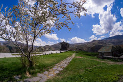 Temple of Garni. In Armenia Stock Photos