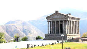 Temple of Garni in Armenia stock video