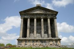 Temple Garni, Armenia. First century Hellenistic temple in Armenia Stock Images