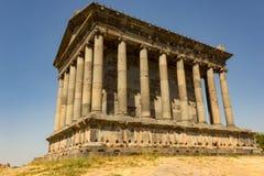 The Temple of Garni, Armenia. The Temple of Garni. Greco-Roman colonnaded building in Armenia stock photography