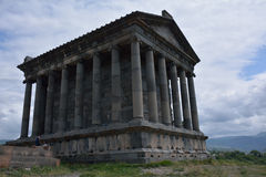 Temple Garni in Armenia. Rear side of Garni temple in Armenia, with the tourists Royalty Free Stock Images