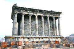 The Temple of Garni is Greco-Roman colonnaded building   near Yerevan , Armenia. Temple of Garni is Greco-Roman colonnaded building   near Yerevan , Armenia Royalty Free Stock Photos