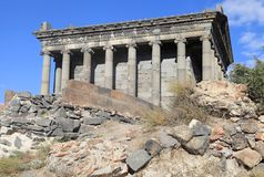 The Temple of Garni is hellenistic temple in Garni, Armenia. It is the best-known structure and symbol of pre-Christian Armenia. It is the only standing Greco Royalty Free Stock Images