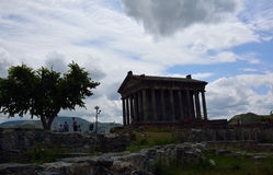 The temple of Garni and the people Royalty Free Stock Images