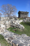 Temple Garni in spring. View on Temple Garni in spring, Armenia Royalty Free Stock Photography