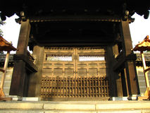 Temple Gate. Photo of the gate to a temple in Kyoto, Japan Stock Photography