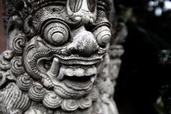 Temple gate guardian Dvarapala, Bali royalty free stock image