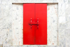 Temple gate. Red door in temple royalty free stock photography