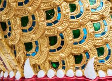 Temple gate's details. Laotian temple gate's details  in north thailand Stock Photography