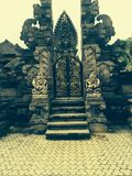 Temple gates in Bali. The gates into a temple I saw whilst on a bike ride in Bali Royalty Free Stock Photography