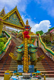 Temple  with giant at Phuket Stock Photos
